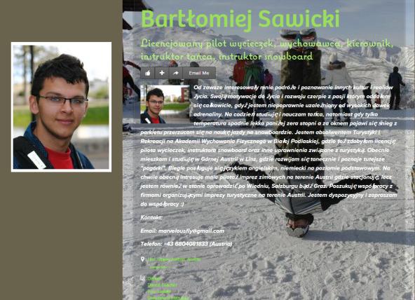 Bartłomiej Sawicki PILOT WYCIECZEK