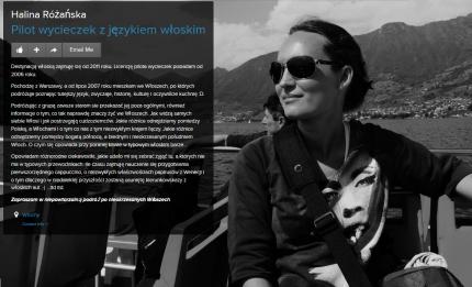 Halina Rozanska PILOT WYCIECZEK Włochy