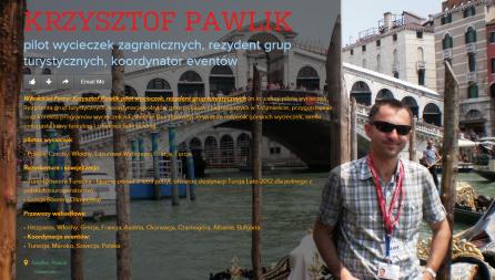 Krzysztof Pawlik PILOT WYCIECZEK